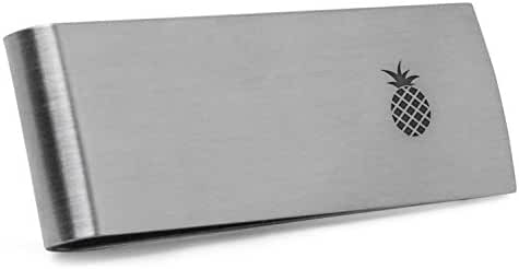 Pineapple Money Clip   Stainless Steel Money Clip Laser Engraved In The USA.
