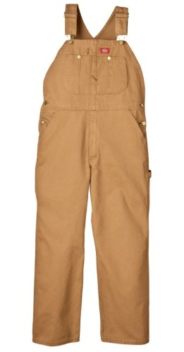 Dickies Men's Bib Overall, Brown Duck, 38X34