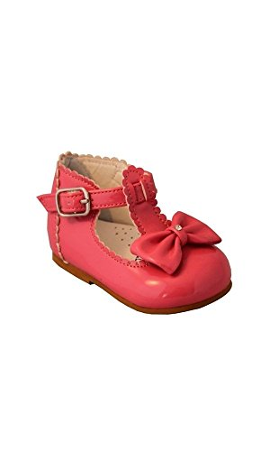 Stevva , Baby Mädchen Lauflernschuhe rosa fuchsia