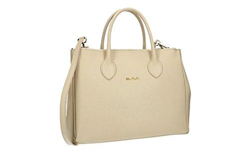 Borsa donna PIERRE CARDIN beige apertura zip in pelle MADE IN ITALY VN1514