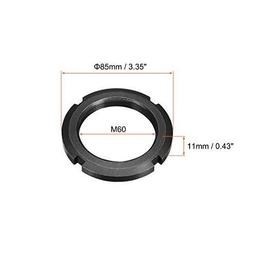 M60x2.0mm retaining Four Slotted Slotted Nuts 2 Pieces
