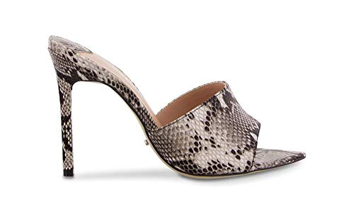 Tony Bianco Marley Snake Heels - Leather Slip On with Pointed Toe Shape and Stiletto Heel