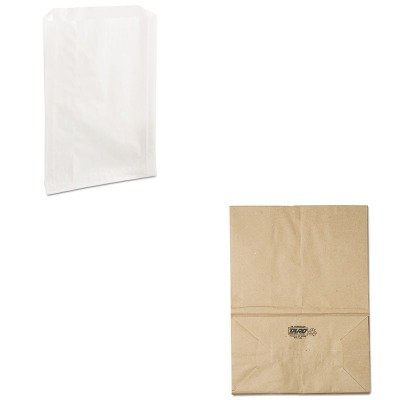 kitbagsk1657bcp300422 – Valueキット – デューロペーパーバッグsk1657 1 / 6 Natural 57 #用紙Grocery Bags ( bagsk1657 )と包装ダイナミクスgrease-resistant Sandwich Bags ( bcp300422 ) B00MOOB8T2
