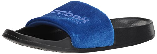 (Reebok Classic Slide Slipper, Collegiate Royal/Acid blu, 9 M US)