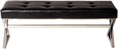 Homelegance 4605BK Metal Base Bench, Black by Homelegance (Image #2)