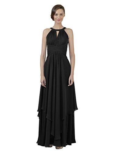 Dress Alicepub Prom Jewel Long Line A Dress Bridesmaid Gown Party Evening Black Chiffon Cq4xrtq