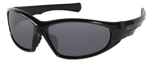 (Harley-Davidson Men's Sun Lifestyle Black w/Grey Lens Sunglasses HDS608BLK-3)