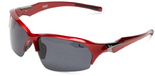 Coleman Windchaser Polarized Shield Sunglasses,Shiny Dark Red,139 - Coleman Sunglasses