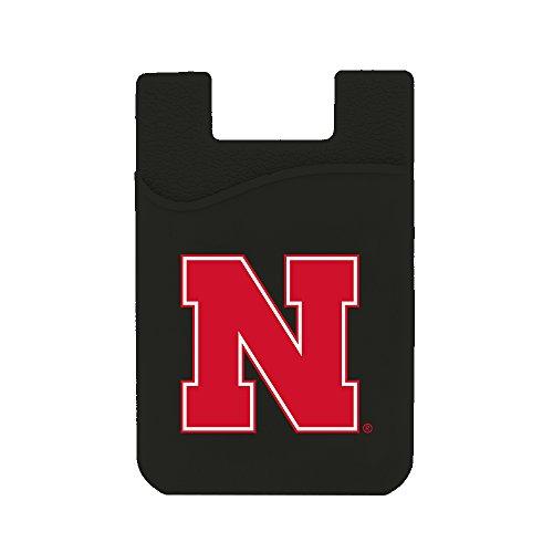 Nebraska Phone - Guard Dog Card Keeper/Card Holder Silicone Phone Wallet (Nebraska Cornhuskers)