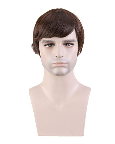 Cool2day Fashion Mens Short Layered Wig (Model Jf010471) (Dark Brown)
