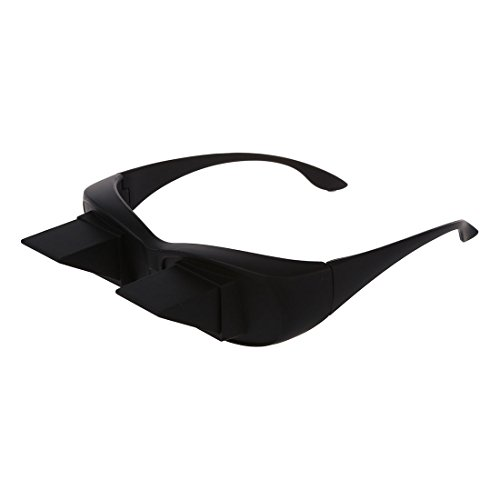 SODIAL(R) Periscope prism glasses horizontal vision in bed reading lie lazy holder