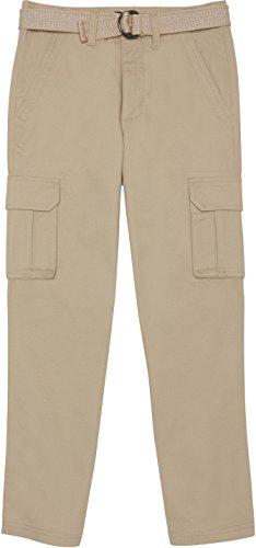 - French Toast School Uniform Boys Belted Cargo Pants, Khaki, 5