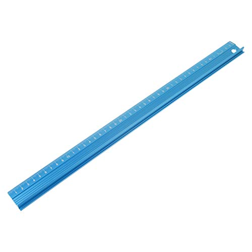 CHBC Professional Aluminum Alloy Straight Ruler Protective Scale Measuring Engineers Drawing Tool 3 Sizes (45cm)