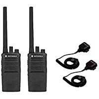 2 PACK Motorola RMV2080 Business Two-Way Radios Walkie Talkies w/ Speaker Mics