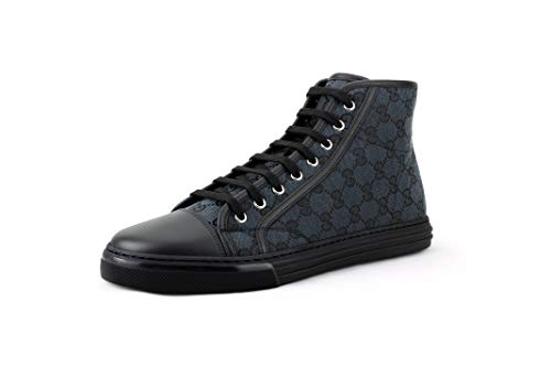 Gucci Men's Original GG Canvas High-top Sneakers, Piombo/Nero (Grey/Black) (8)