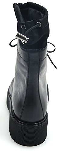 Prada Black Nero En Cuero Negro Mujer Botines 3t6101 Para Art Tobillo wwqaAFvr