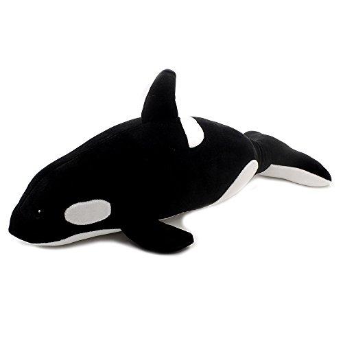 Millffy hot Adorable Shark Plush Killer Whale Stuffed Animal Plush Blackfish Tiger Tale Toys (S - Stuffed Orca Whale