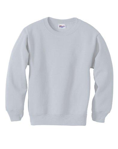 Youth ComfortBlend Crewneck Sweatshirt, Color: Ash, Size: Me