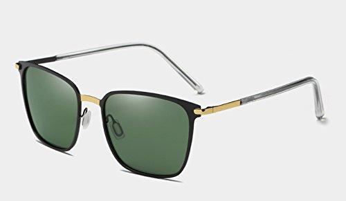 pour L'alliage soleil polarisants les óculos mâle Eyewear Sunglasses Lunettes TL Lunettes de hommes gold de miroir black verres Lunettes CHR1w6q