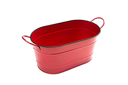 Red Tub Nantucket Oblong Bucket with 2 Handles
