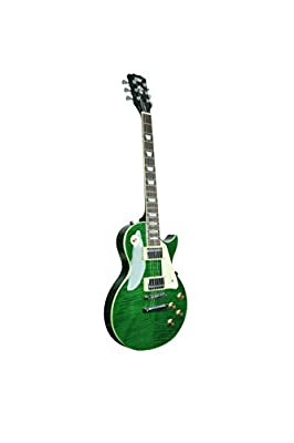 ivy ILS-300 EGR Les Paul Solid-Body Electric Guitar, Emerald Green