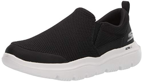 Skechers Men's GO Walk Evolution Ultra-Impeccable Sneaker, Black/White, 11.5 M US