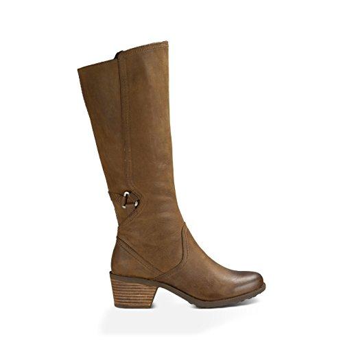 Teva Women's W Foxy Tall Leather Boot,Brown,8 M US by Teva