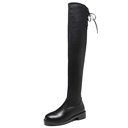 Eeayyygch Stivali con Tacco Alto Stivali con Stivali Stivali Stivali da Donna (colore   37, Dimensione   nero (pu)) 8529e0