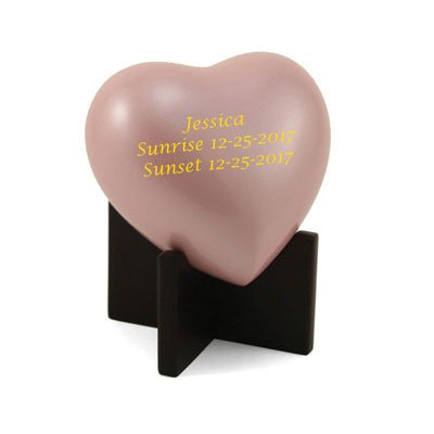 (Personalized In Our Hearts Infant Cremation Urn - Pink)