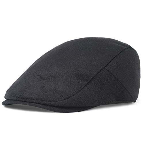 BABEYOND 1920s Gatsby Newsboy Hat Cap for Men Gatsby Hat for Men 1920s Mens Gatsby Costume Accessories (Black-2, -