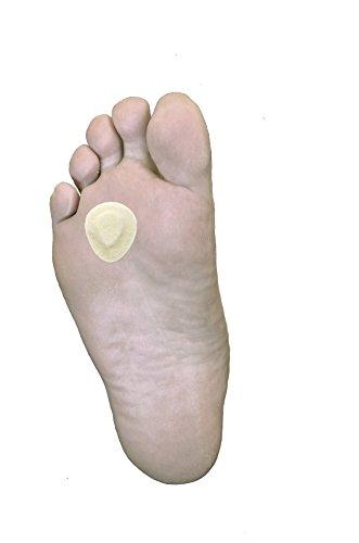 Morton's Neuroma Ball of Foot Pads, 100 Pack of Metatarsal Cushions from Atlas Biomechanics