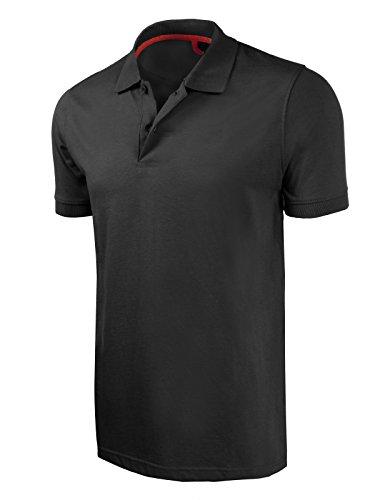 Marq 75 Slim Fit Jersey Polo Shirt - Black, Medium