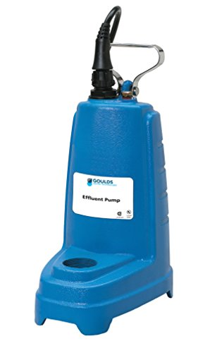 Goulds PE41P1 Submersible Effluent Pump, 1/2.5 HP, 115 V, 7.5 Amps, Single Phase, Piggyback Floatswitch by Goulds