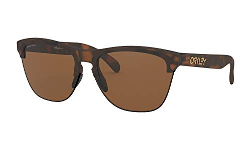 Oakley Frogskins Lite Sunglasses Matte Brown Tortoise with Prizm Tungsten Lens + ()