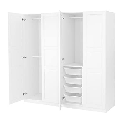 Wspaniały Amazon.com: Ikea Wardrobe, white, Tyssedal white 16204.82317.2630 CZ27