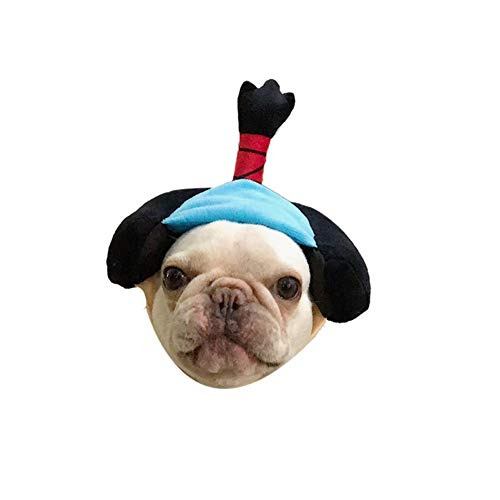 Stock Show 1Pc Dog Cat Cute Novelty Japan Geisha Samurai Hat Headwear Sticker Dog Cat Funny Holiday Festival Costume Hat Headdress Halloween Xmas Festival Theme Party Photo -