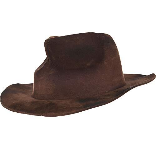 Freddy Krueger Fedora Hat (Suit Yourself Brown Freddy Krueger Hat for Adults, A Nightmare on Elm Street Halloween Costume)