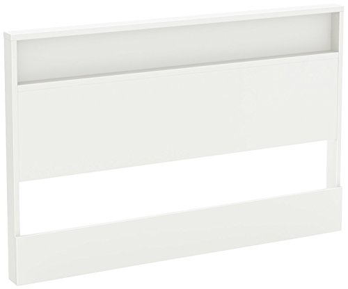 South Shore Holland Headboard with Shelf, Full/Queen 54/60-Inch, Pure White by South Shore (Image #1)