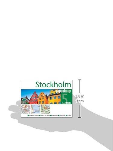 popout stockholm handy pocket size pop up map of stockholm