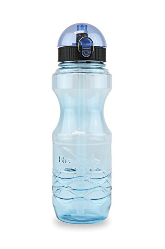 Bluewave Bullet Premium Sports Water Bottle with Straw – 0.6 Liter (20 oz) Tritan BPA Free Reusable Hydration Bottle for Gym / Fitness Sky Blue