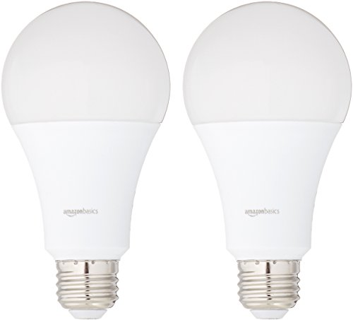 AmazonBasics 60 Watt Equivalent, Soft White, Non-Dimmable, 15,000 Hour Lifetime, A19 LED Light Bulb | 6-Pack