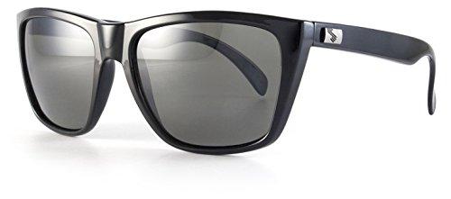 Sundog Rebel Frame with Polarized Lens, Shiny Black with - Polarized Rebel Sunglasses
