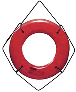 Jim-Buoy HS-24 W U.S.C.G. Approved Hard Shell Series Life Ring - 24'', White by Jim-Buoy