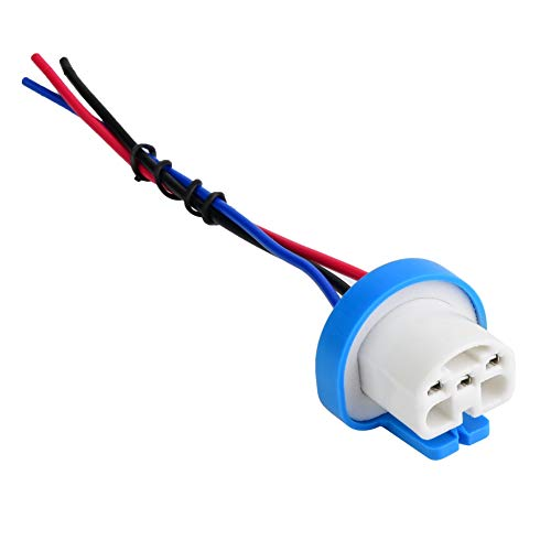 Headlight Wiring Harness, 9007 Headlight Fog Lamp Wiring Harness Ceramic Female Sockets Connector Adapter: