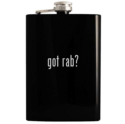 (got rab? - 8oz Hip Drinking Alcohol Flask, Black)