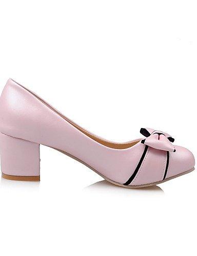 Bout Cn39 Talons Ggx confort À Décontracté Chaussures amp; Travail Pink Arrondi Femme us8 Eu39 gros chaussures Rose Blanc polyuréthane Uk6 noir Talon bureau qZ7BWaq