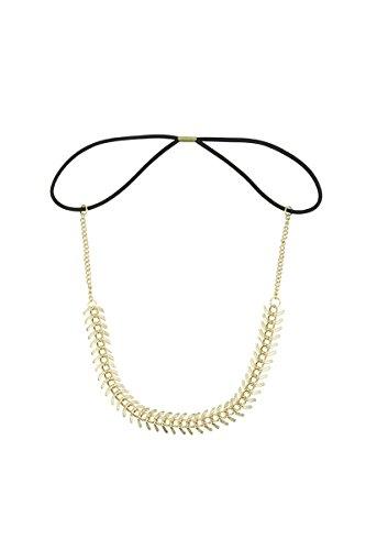 TOOGOO(R) New Lovely Metallic Sweet Lady Hollow Rose Flower Elastic Hair Band Fashion Headband - Gold (Gloden Flower)