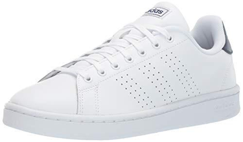 (adidas Men's Advantage, White/Dark Blue, 12 M US)