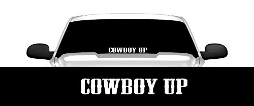 Cowboy Up Decal Sticker 23