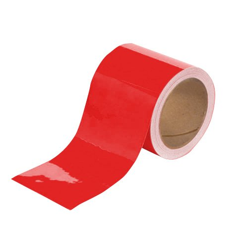 Red Aisle Marking Tape (TuffMark Superior Adhesive Floor Marking Tape,Tear Resistant Floor Tape,Floor Safe Marking Tape for Warehouse Workplace Surfaces - Red - 4-Inch x 100-Foot (1 Roll))